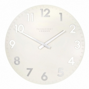 Camden Large 20 inch Wall Clock Snowberry White