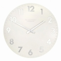 Thomas Kent Clocks Camden Large 20 inch Wall Clock Snowberry White