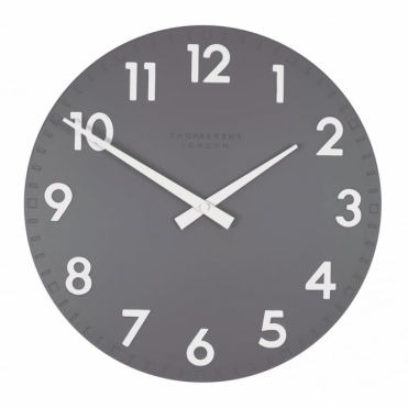 Camden Small 12 inch Wall Clock Slate