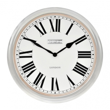 Campbell Wall Clock Polished Steel