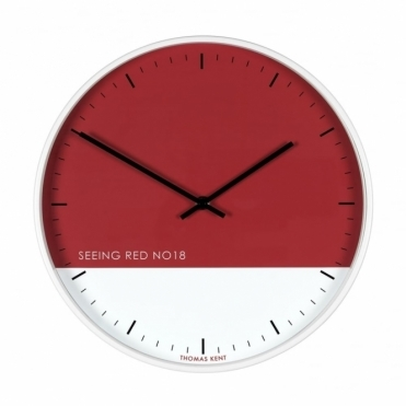 Eden Wall Clock - Seeing Red