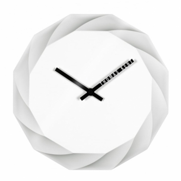 Elan 3D Dodecagon Wall Clock - White