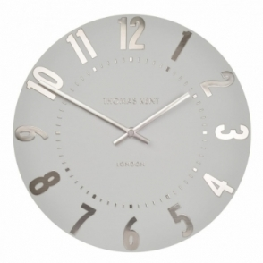 "Mulberry 12"" Wall Clock - Silver Cloud"