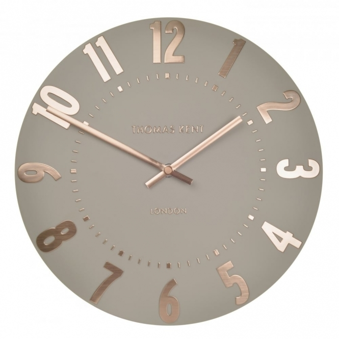 "Thomas Kent Clocks Mulberry 20"" Wall Clock - Rose Gold"