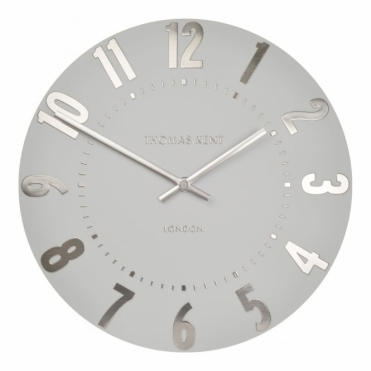 "Mulberry 20"" Wall Clock - Silver Cloud"