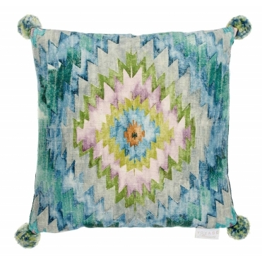 Thorley Capri Square Cushion with Pom Poms