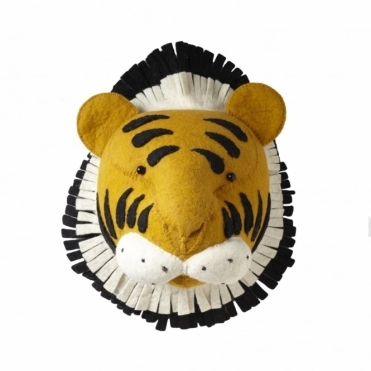 Tiger Felt Animal Head Wall Mounted