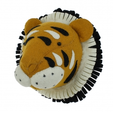 Tiger Felt Animal Wall Head - Mini