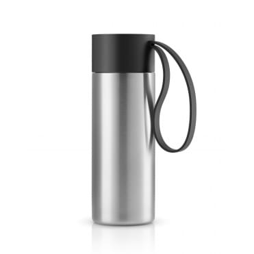To Go Cup 0.35 Litre Drinking Flask Stainless Steel - Black