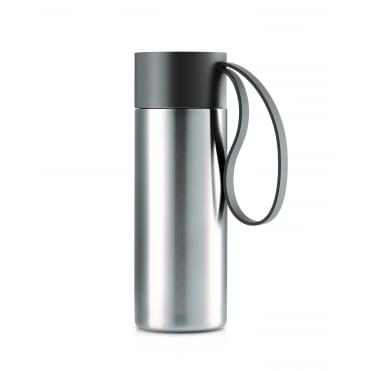 To Go Cup 0.35 Litre Drinking Flask Stainless Steel - Grey