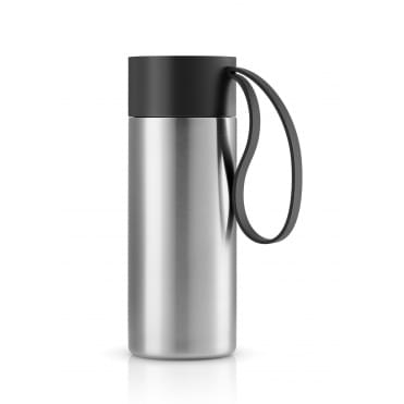 To Go Cup 0.5 Litre Drinking Flask Stainless Steel - Black