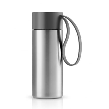 To Go Cup 0.5 Litre Drinking Flask Stainless Steel - Grey