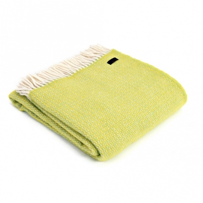 Tweedmill Pure New Wool Illusion Throw Blanket Zest