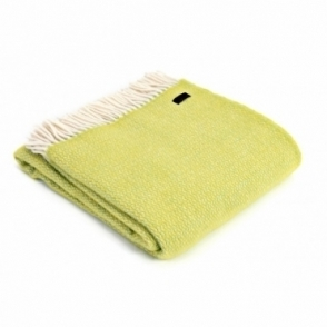 Pure New Wool Illusion Throw Blanket Zest