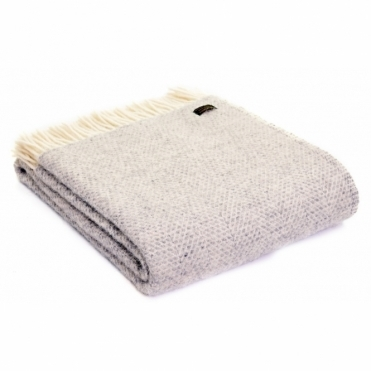 Pure New Wool Knee Lap Blanket - Beehive Grey