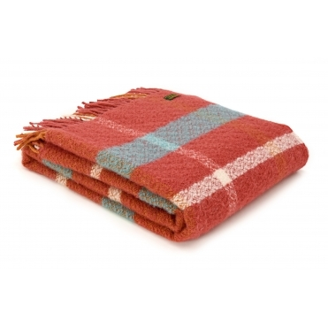 Pure New Wool Ryan Check Throw Blanket - Limited Edition of 150