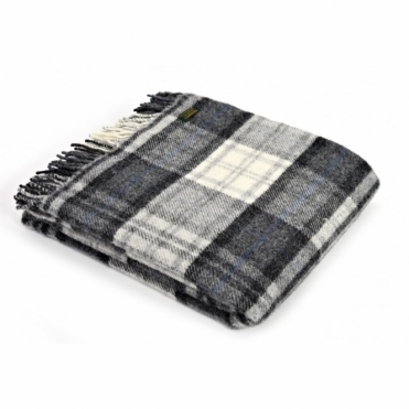Pure New Wool Throw Blanket Cottage Grey
