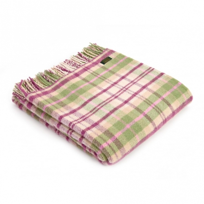 Tweedmill Pure New Wool Throw Blanket Cottage Pink