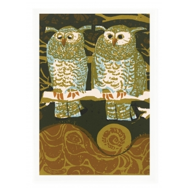 Two Owls Tea Towel