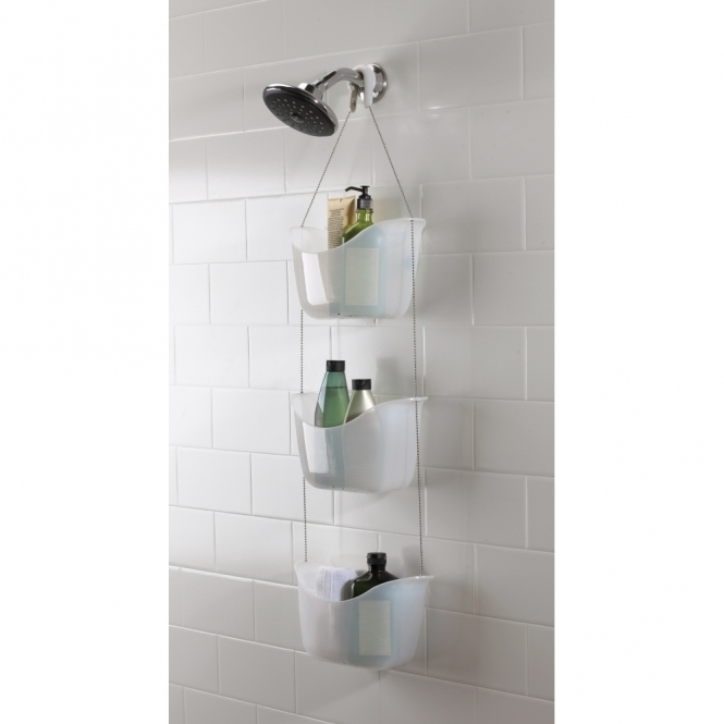 Umbra Bask Shower Caddy White - 3 Tier