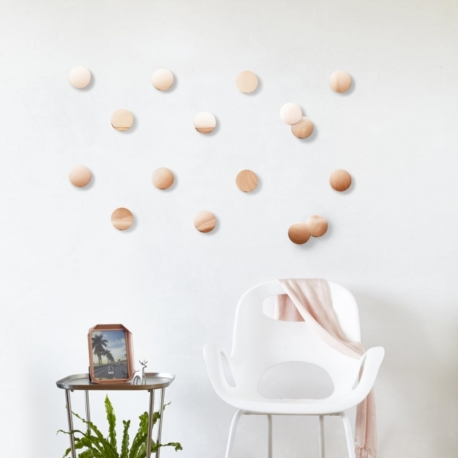 Umbra Copper Confetti Dots Wall Decor - Set of 16