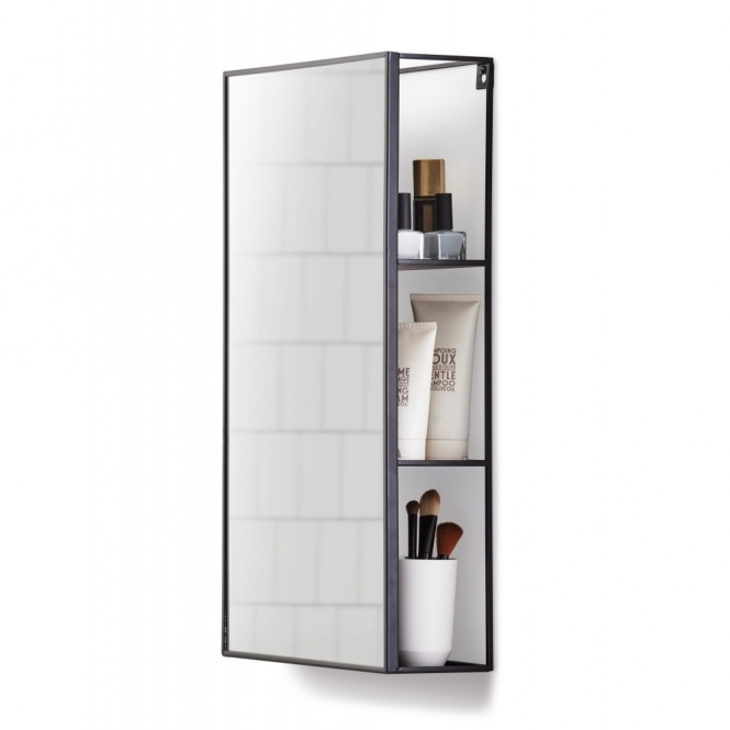 bathroom shelf with mirror umbra cubiko wall mirror amp storage unit hurn and hurn 16387