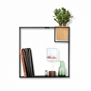 Cubist Shelf Black - Large