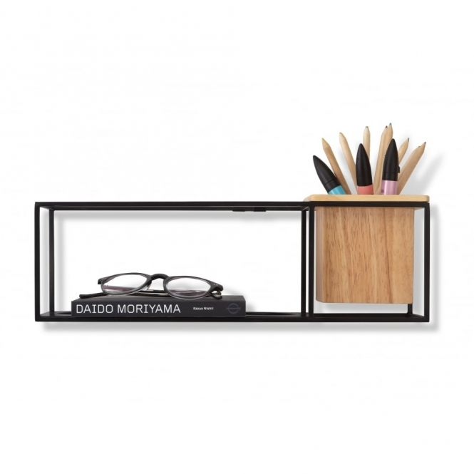 Umbra Cubist Shelf Black - Small