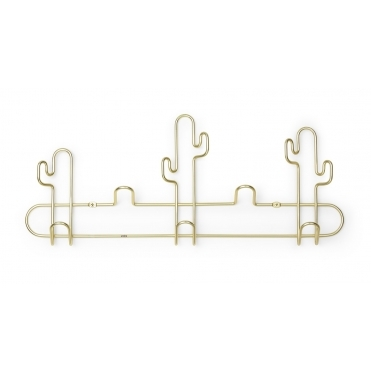 Desert Cactus Multi Coat Hook - Brass