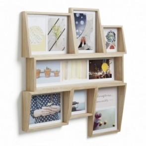 Edge Multi Photo Wall Display - Natural