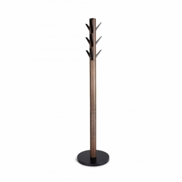 Flapper Coat Stand - Black / Walnut