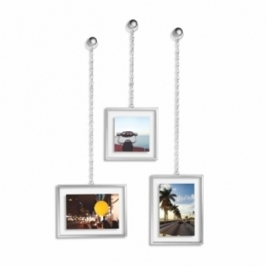 Fotochain Wall Photo Display Nickel - Set of 3