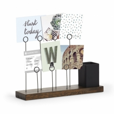 Gala Multi Photo Display Stand - Walnut