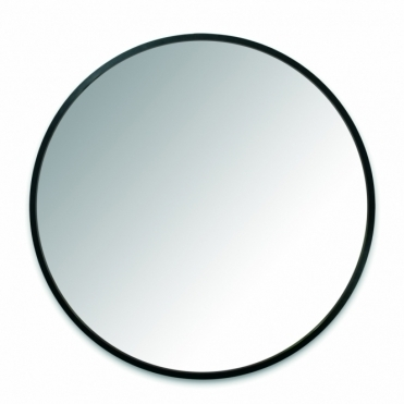 "Hub Wall Mirror 24"" Black"