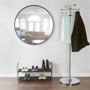 "Hub Wall Mirror 36"" Black"