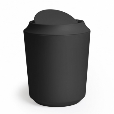 Kera Bathroom Waste Bin with Lid - Black