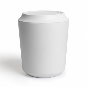 Kera Bathroom Waste Bin with Lid - White