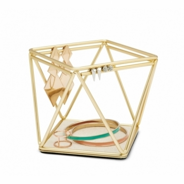 Prisma Accessory / Jewellery Organiser - Brass