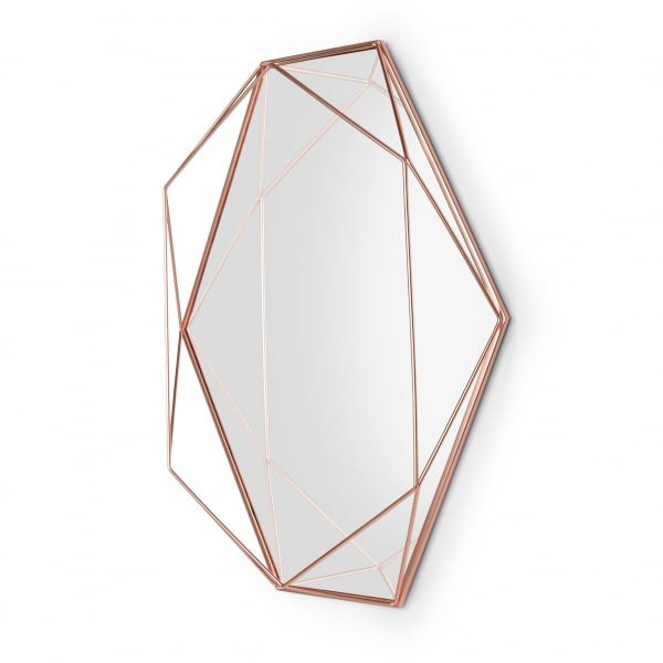 Umbra Prisma Wall Mirror Copper Hurn And Hurn