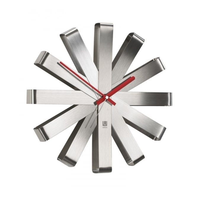 Umbra Ribbon Wall Clock - Steel