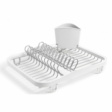 Sinkin Dish Rack - White / Nickel