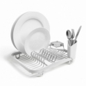 Umbra Sinkin Dish Rack - White / Nickel