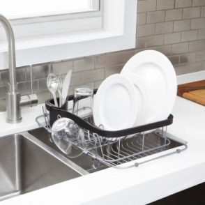 Sinkin Multi Use Dish Rack Black / Nickel
