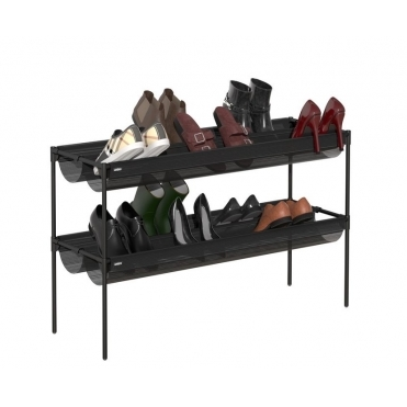 Sling Shoe Storage Rack - Black