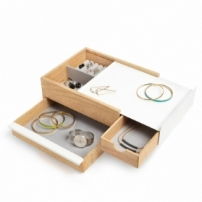 Stowit Jewellery Box Large - White / Natural