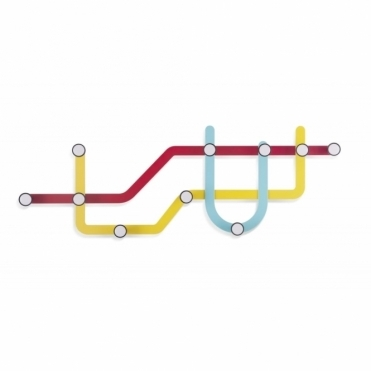 Subway Multi Coat Hook - Multi Coloured