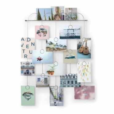 Trickle Multi Photo Wall Display - Chrome