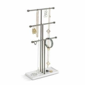 Trigem Jewellery Stand White / Nickel