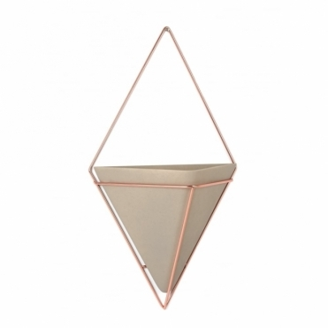 Trigg Wall Planter Concrete/Copper - Large