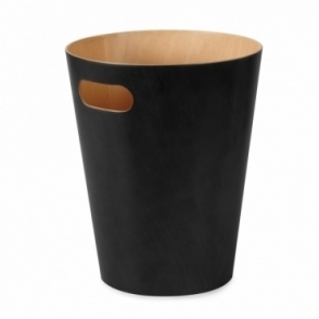 Woodrow Can Black / Natural Waste Paper Bin